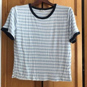 Brandy Melville Blue Stripe Nadine T-Shirt